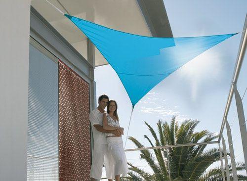 Voile d'ombrage triangulaire 3,60 m - 185g/m² - Sur Jardideco.fr