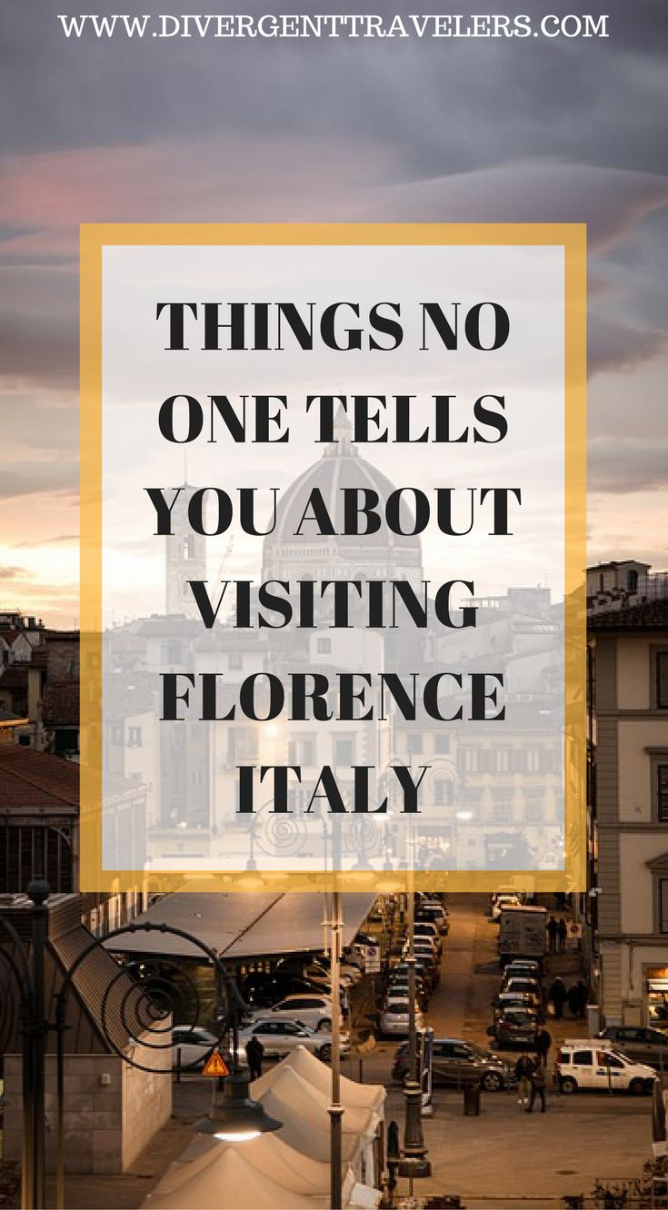 Things no one tell you about visiting Florence, Italy. Our Florence insider guide will tell you everything you need to know about the city. While there I learned a fewthingsnot only from my own experience, but from those who live there as well, So we teamed up with a local to put together a guide on things no one tell you about Florence. Click to read more.#Italy #Florence #Guide #Travel