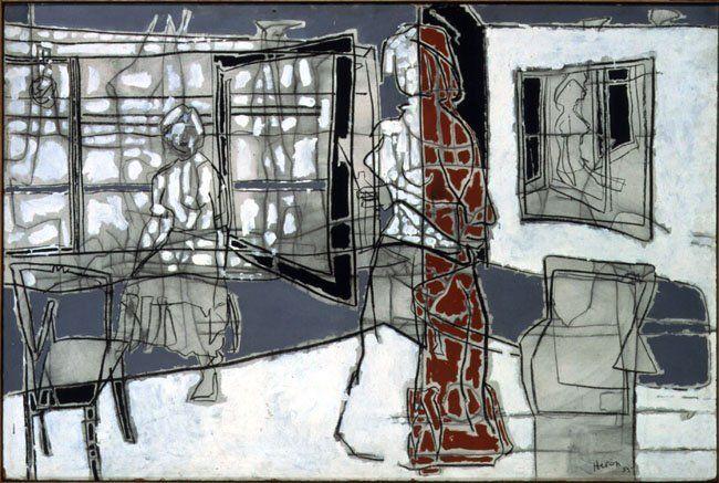 Patrick Heron - Girl in Harbour Room, 1955, 48 x 72 ins