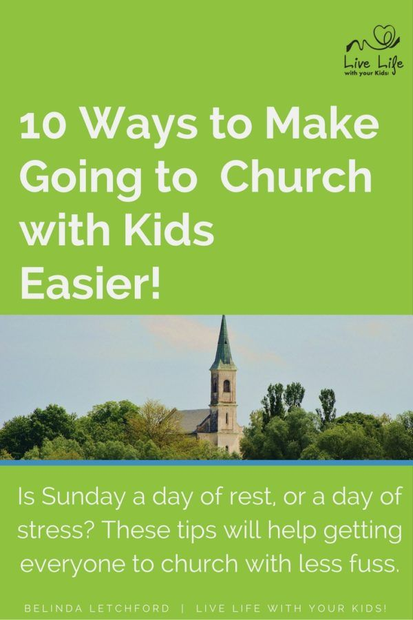 Going to church on Sunday morning can be stressful but there are things that you can do that make it easier - but you need to be intentional.