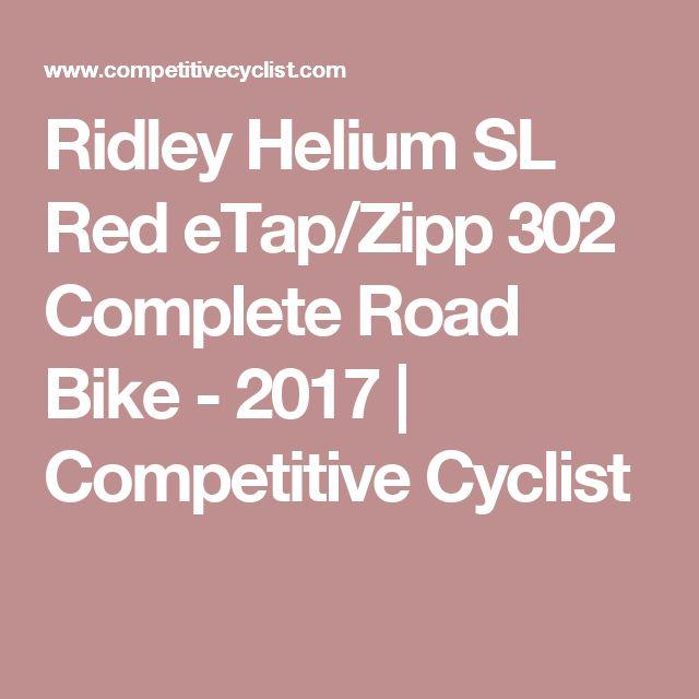 Ridley Helium Sl Red Etap Zipp 302 Complete Road Bike 2017