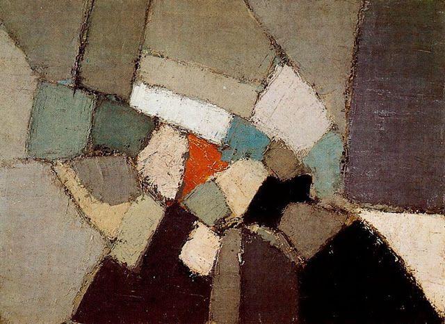 Nicolas de Staël - Composition, 1949, oil on canvas