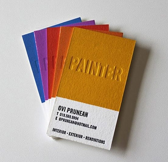 cartes de visite cartons debossage
