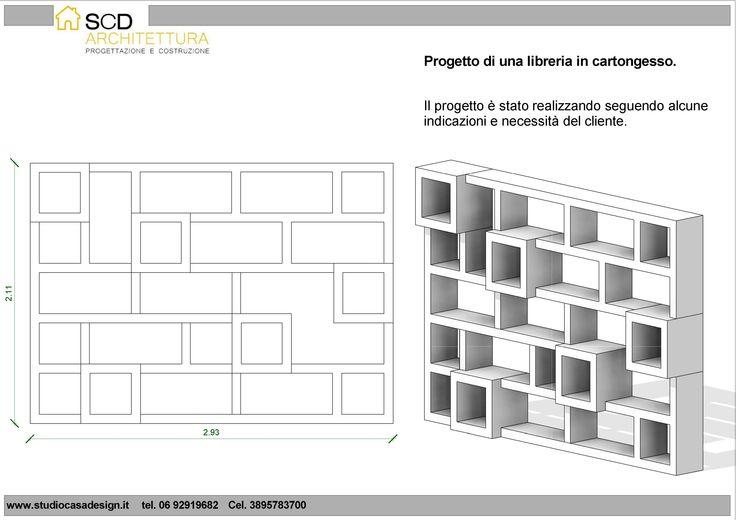 Progetto e Realizzazione di una Libreria In Cartongesso a Roma (zona Camilluccia) | Progetti Ristrutturazione Casa