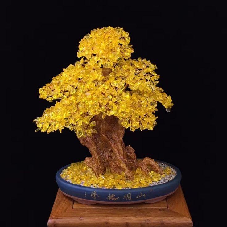 Natural citrine lucky money tree price 24030 free