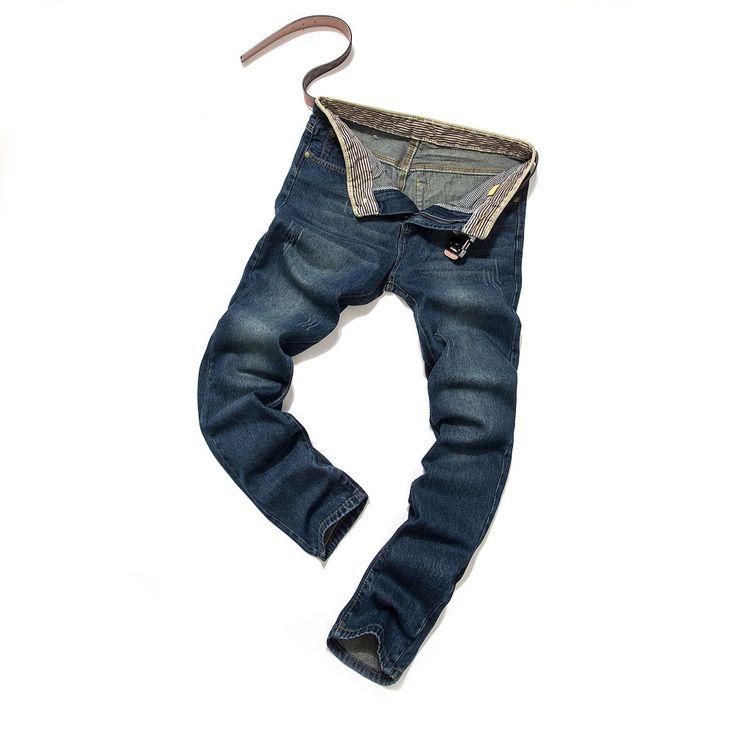 Cheap 2015 2016 nueva Jeans hombres más el tamaño 40 38 36 a estrenar vaqueros rectos hombres pantalones de moda para hombre de David Beckham alta calidad barata, Compro Calidad Jeans directamente de los surtidores de China:  Pantalones vaqueros de los hombres Fashion roto agujero Jeans Hombres más el tamaño 46 44 42 40,38 36 envío libre!  Alt