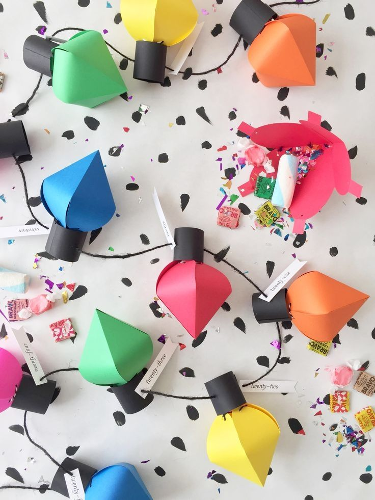 Фонарики из цветной бумаги
