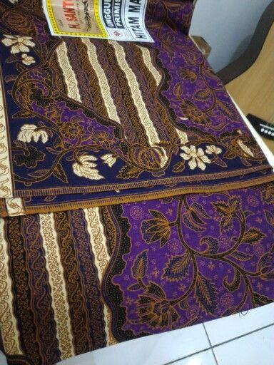 Purple colour batik katun print