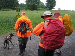How to Join a Search and Rescue Team: SAR team members get ready to conduct a hasty search for a lost person.