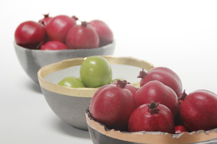 The Sweden Concrete Fruit Bowl by Metal Dust Studio