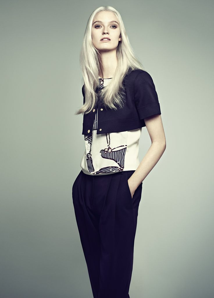 Helena Greyhorse debuts the Heritage Floral Print featured in Aquascutum's  Spring/Summer 14 Womenswear Collection