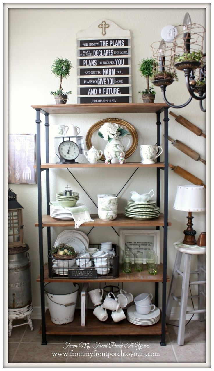 Bakers rack decorating ideas - Perfect Ideas About Bakers Rack Decorating On Pinterest Summer With Bakers Rack
