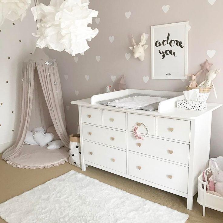 Babyzimmer wandgestaltung mädchen  Die besten 25+ Babyzimmer mädchen Ideen nur auf Pinterest ...