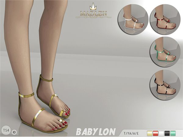 The Sims Resource: Madlen Babylon Sandals by MJ95 • Sims 4 Downloads