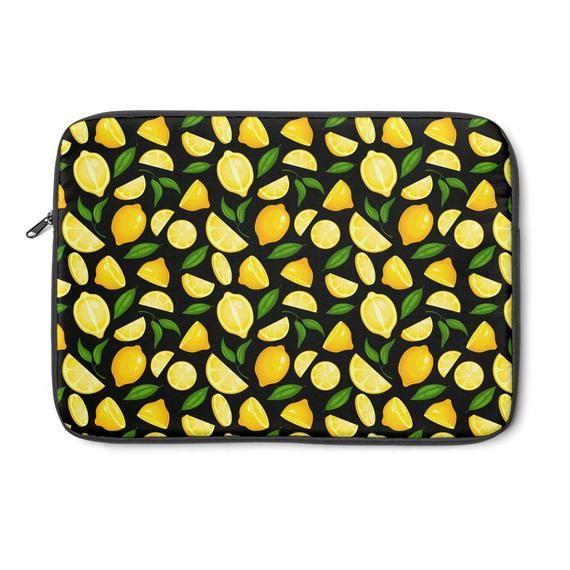 Laptop / Macbook Sleeve Lemon – 12″ 13″ 15″ Padded Sleeve with Zipper – Macbook Air, Pro Skin / Cove