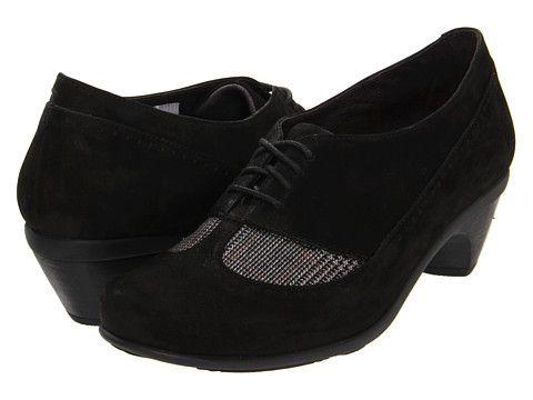 Naot Footwear Retro Black Velvet Nubuck/Grey Tweed - 6pm.com