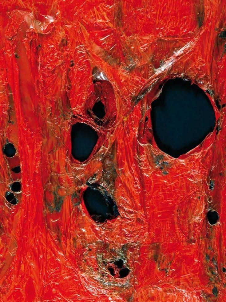 """Alberto Burri (Citta di Castello 1915 - Nizza 1995) """"Rosso Plastica"""" 1962…"""