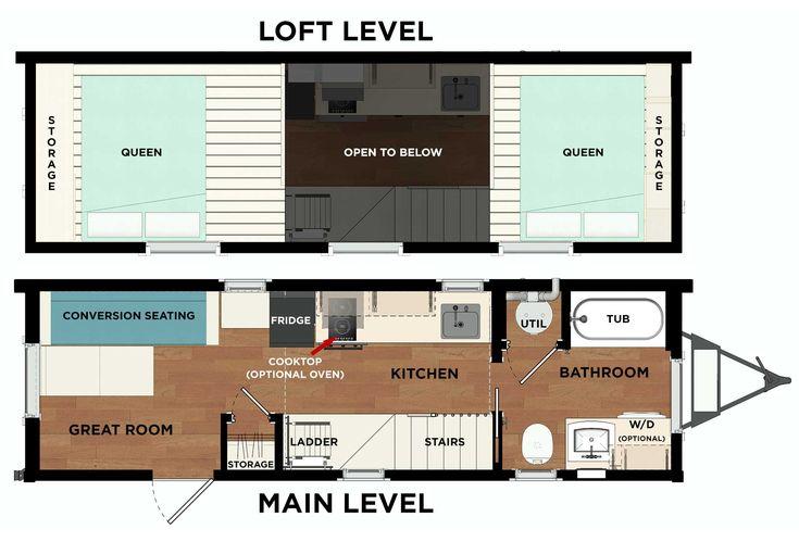 Tumbleweed Roanoke 26' Pacific with Second Loft For Sale - Tumbleweed Houses