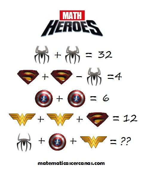 Math Heroes ¿Puedes resolver el acertijo? / Can you solve the riddle?