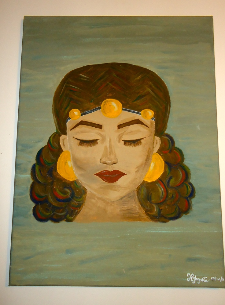 """""""Eritrean Goddess"""": one of my favorite paintings i've done ... Vintage Bohemian Style Clothing"""