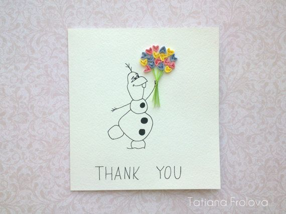 Thank You Card, Funny Thank You Card, Quilling Card, Greeting Cards, Birthday Thank you card, Floral Thank You Card, Wedding Thank you cards