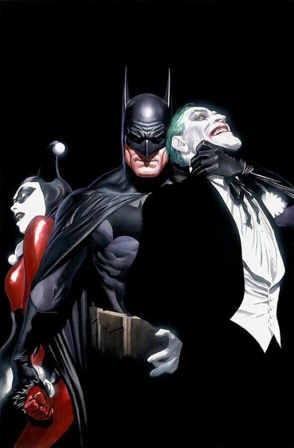 Batman, Arlequina e Coringa, por Alex Ross