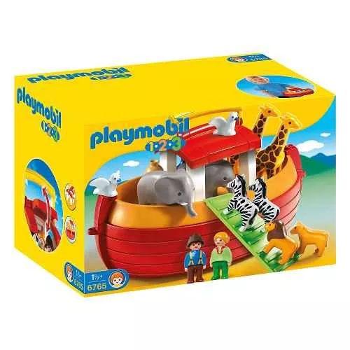 Playmobil 1 2 3 - 6765 Arca De Noe Maletin - $ 2.099,99
