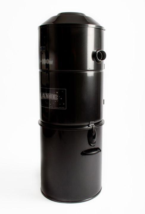 Motorunit GE-100SI, cyclonisch zonder stofzak, met uitwasbare motorfilter of uitlaat naar buiten, slechts 59dB, H97 x ø37cm, inhoud opvangbak 37l, tot 800m², LED display, trage start en auto stop na 1u continu draaien