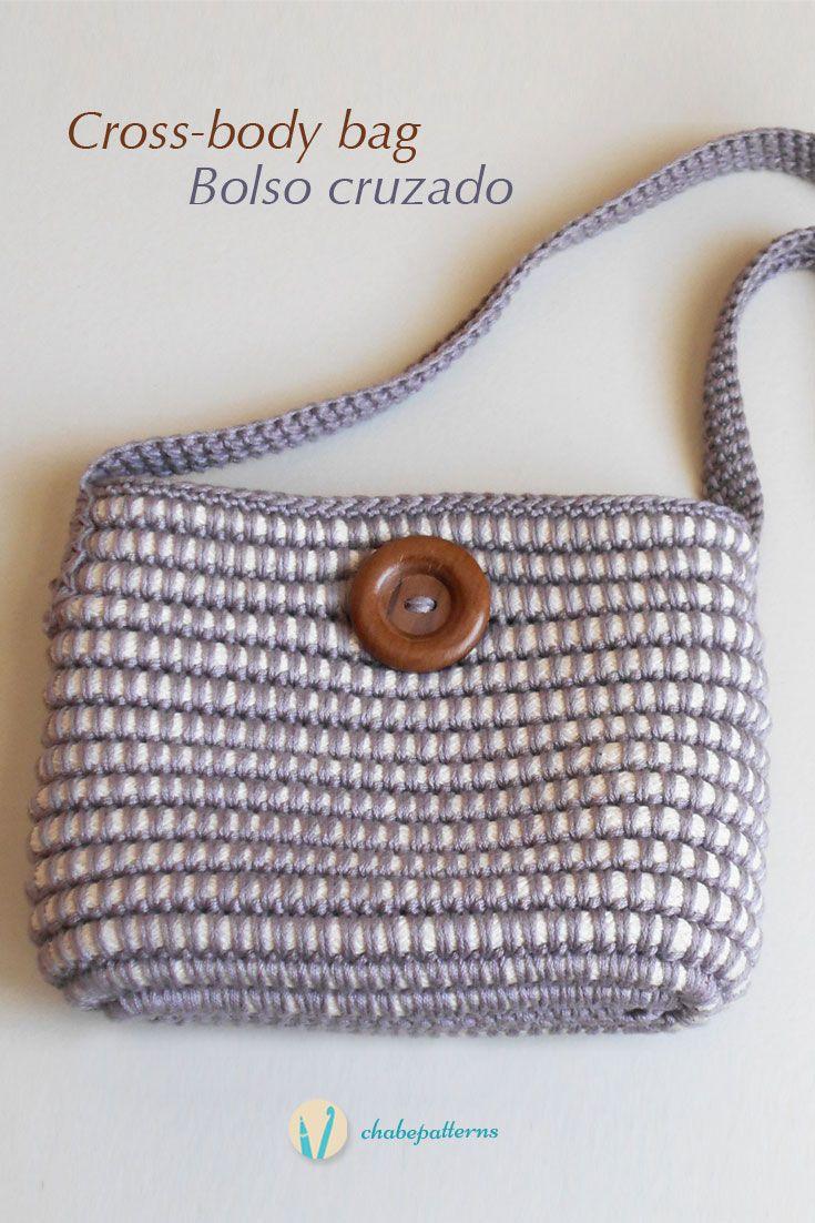 Free Crochet Pattern For Cross Body Bag : Cross-body bag, free crochet pattern, written instructions ...