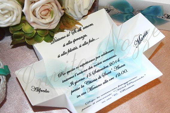 Partecipazioni di nozze - Invito con blu tiffany