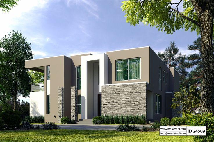 4 Bedroom Modern House Plan Id 24509 Floor Plants