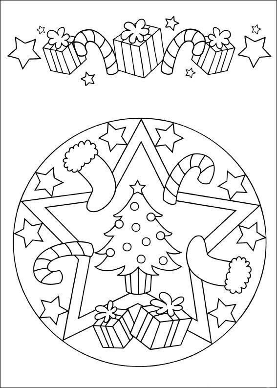Desenhos para colorir para crianças. Desenhos para imprimir e colorir Mandalas 15