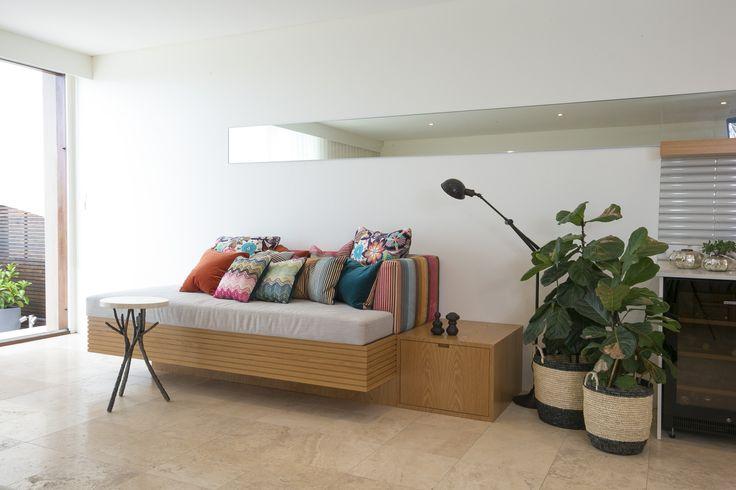 Missoni Home fabrics on bespoke Daybed. Brooke Aitken Design
