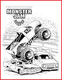monster jam coloring pages - Free Monster Truck Coloring Pages