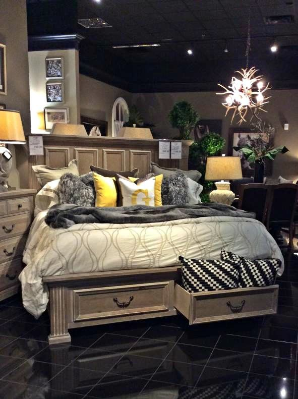 American made quality, convenient storage and a gorgeous grey finish make this bed a wonderful investment for you and your home! Come see it for yourself TODAY at Gallery Furniture! | Houston TX | Gallery Furniture |