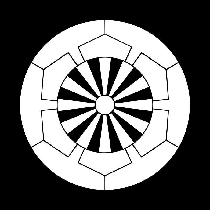 榊原源氏車 さかきばら げんじくるま Sakakibara genji kuruma The design of wheel.