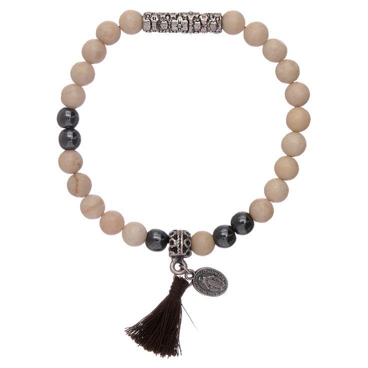 Pulsera piedra y Medalla Virgen Milagrosa | venta online en HOLYART