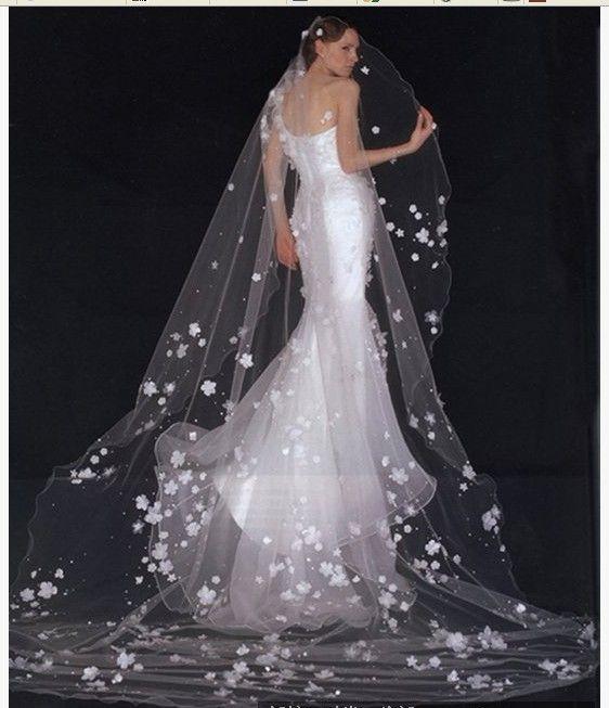 Dreamlike beautiful wedding dress and veil