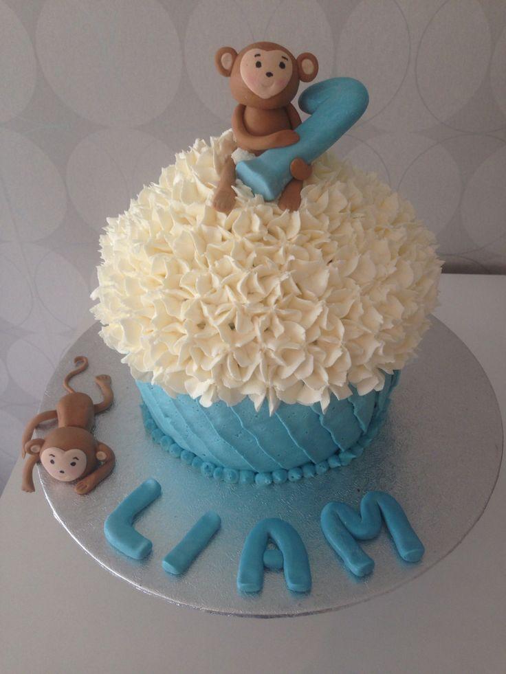 Monkey smash cake, giant cupcake