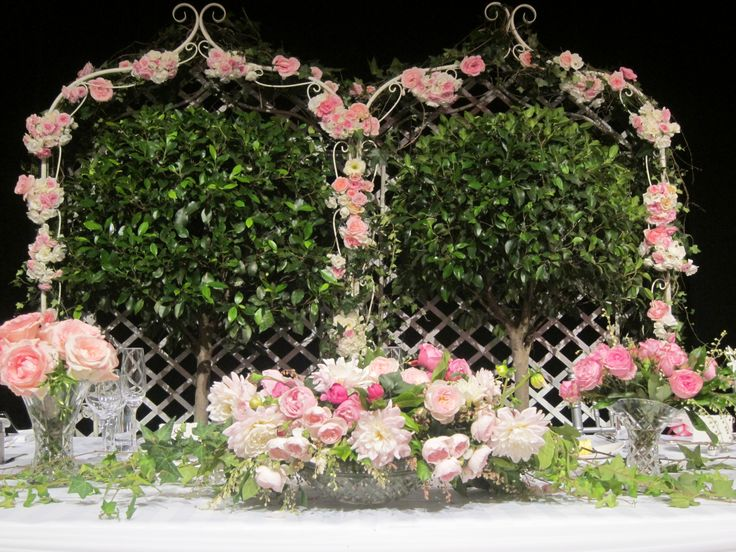 Beautiful pink arrangement by @azbcreative
