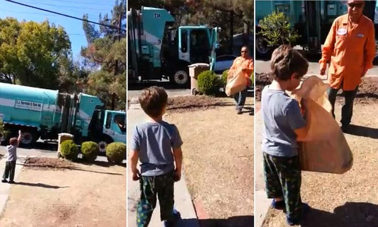 A garbage man surprises 5-year-old autistic boy with his own toy truck.