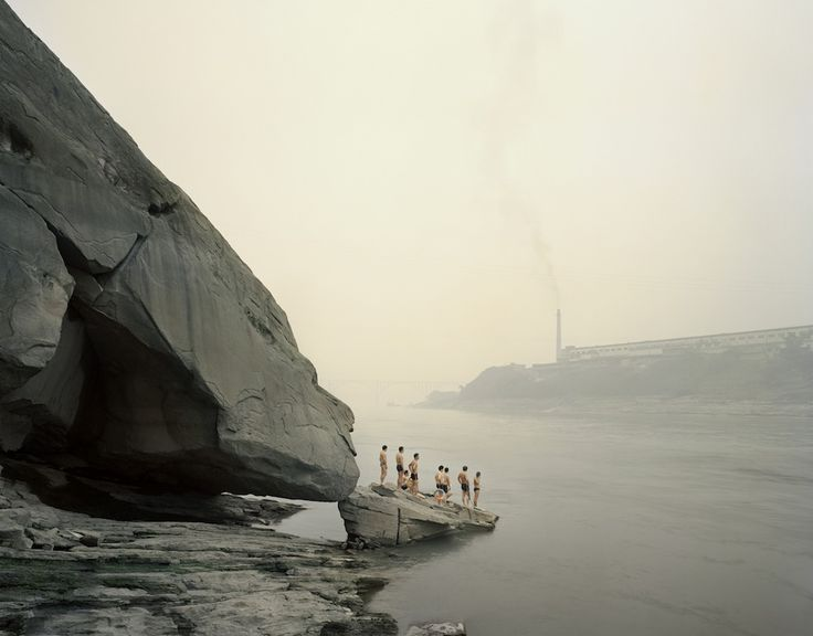 "Yibin I (Bathers), Sichuan Province.  From Nadav Kander's ""Yangtze: The Long River,"" A photo essay on China's longest river.  © 2010 Nadav Kander."