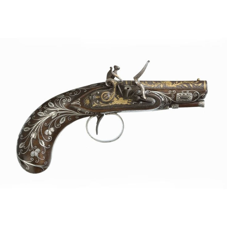 a small english flintlock pocket pistol by william beckwith of london circa 1810 peter finer. Black Bedroom Furniture Sets. Home Design Ideas