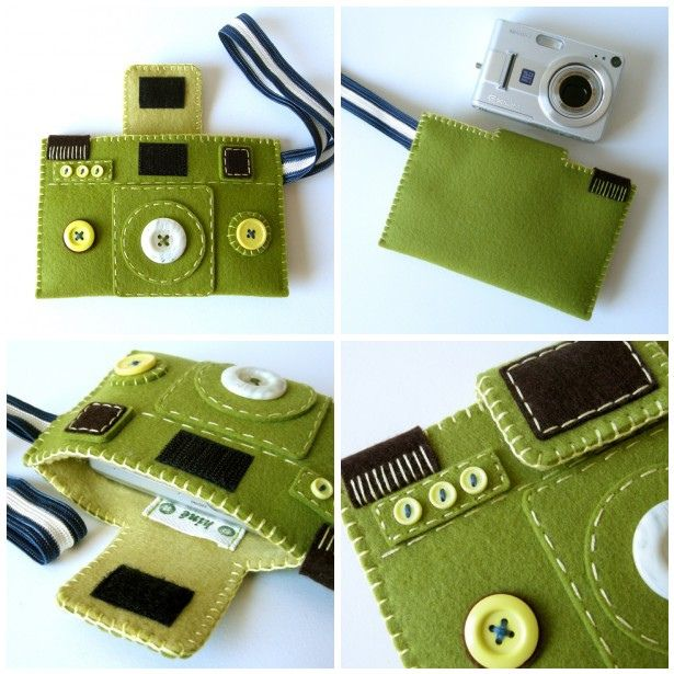 felt camera case ... great idea for the kids if we give them a camera as a present