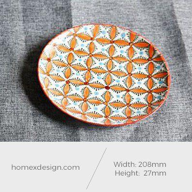 Ceramic colorful orange L plate (2 pieces)
