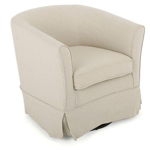 Cecilia Fabric Swivel Club Chair Christopher Knight Home