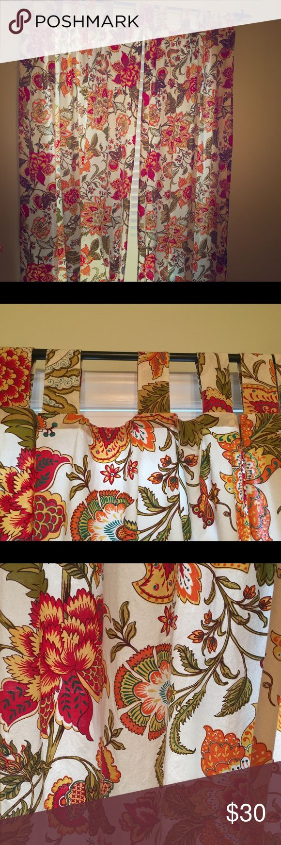 World market floral curtains Set of 2 panels. Approx- 42x80 world market Other