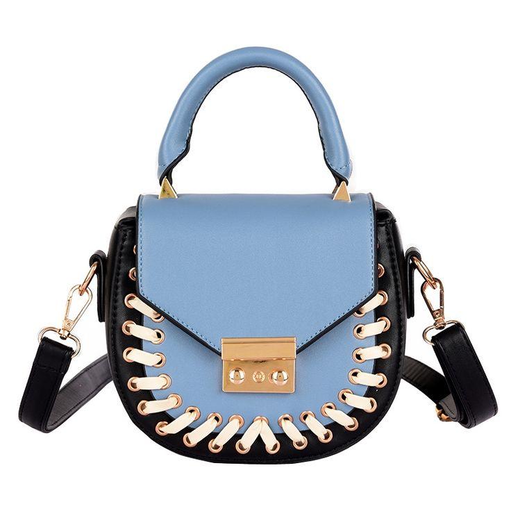 (27.06$)  Buy here - http://aim3a.worlditems.win/all/product.php?id=32795324999 - Women Messenger Bags 2017 Luxury Handbags Women Bags Designer Lacing Mini Tas PU Leather Shoulder Bag Tote Saddle Bolsa Feminina
