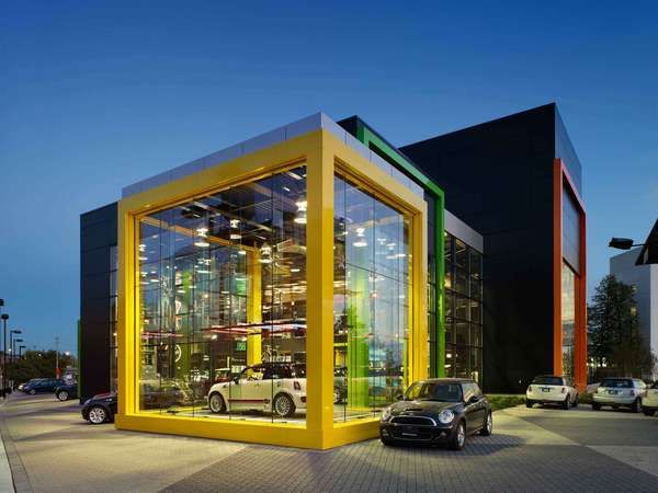 Brightly Hued Autotecture - RAW Design Creates Playful Aesthetic for MINI Dealership (GALLERY)