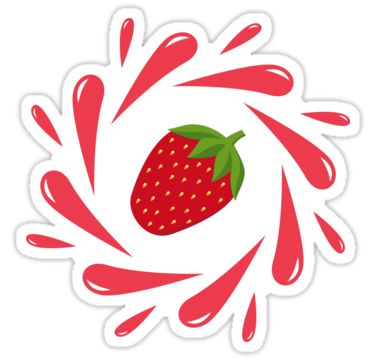 Strawberry splash by LunaPrincino  #lunaprincino #design #strawberry #berry #fruit #fresh #juicy #food #raw #vegan #red #splash #motion #graphic #drops #print #prints #redbubble #gift #idea #summer #vivid #stationery #graphics #cool #creative #style #sticker #stickers #pretty #cute #for #kids #school